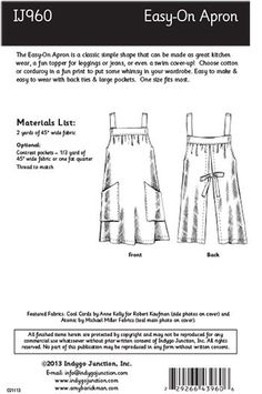 Easy-On Apron | Indygo Junction