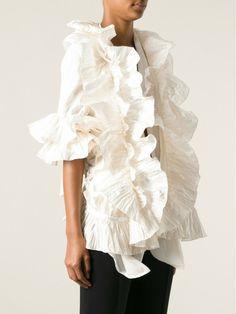 the white shirt gianfranco ferre | tops shirts gianfranco ferre vintage white ruffled shirt this item ...