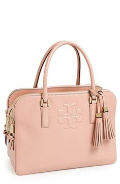 Tory Burch 'Thea' Patent Leather Triple Zip Satchel at Nordstrom.com. This refined satchel cut from lustrous pebbled leather will carry you through the week in impeccable style. Slender rolled handles and an abundance of spacious compartments make this bag a workday must-have, while gleaming hardware and a pair of swingy tassels lend polish to weekend ensembles.