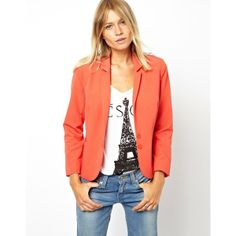 ASOS Cropped Tailored Blazer ($56) found on Polyvore