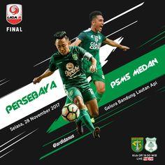 Match Poster Persebaya Surabaya vs PSMS Medan . FINAL LIGA 2 Indonesia