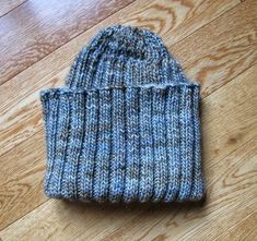 Blue Cocoon Hat | AllFreeKnitting.com