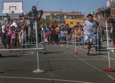 Declaramos Huésped de Honor de la Ciudad de Buenos Aires a Usain Bolt quien ofreció una clínica a niños del barrio Los Piletones.
