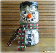 A Creative Princess: Snowman Treat Jar