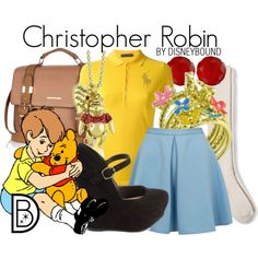 Christopher Robin from Winnie the Pooh by leslieakay on Polyvore featuring Ralph Lauren, Closet, Merona, Charlotte Russe, River Island, Disney Couture and Bling Jewelry