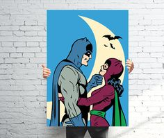 Catwoman and Batman  Romantic Vector Illustration by ComicsLand