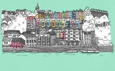 beautiful pictures of bristol Magazine Illustration, Illustration Art, Illustrations, Valentine Day Cards, Prints For Sale, Art Tutorials, Great Places, Screen Printing, Beautiful Pictures