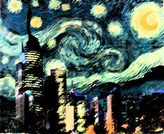 Modern Starry Night by Sehrafina.deviantart.com