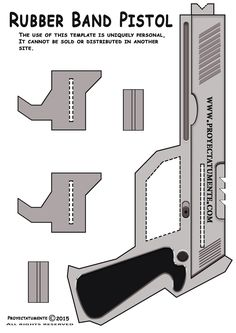 How to Make a Rubber Band Pistol - Proyectatumente