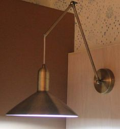 Bedroom Copper brass metal material wall light with lamp shade