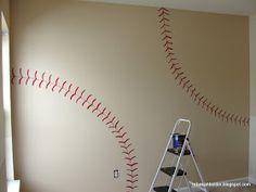 DIY Baseball Wall by rebekahboldin #Interior_Design #Baseball