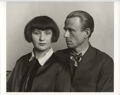 August Sander. III/13/11. The Painter Otto Dix and his wife Martha, 1925/26. Gelatin Silver Print, printed later by Gerd Sander © Photograph...