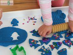 The Rainbow Fish Inspired play dough activity