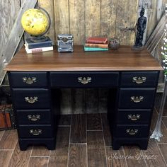 For love of the paint tutorial vintage drexel desk vanity with for love of the paint tutorial vintage drexel desk vanity with world map detail the lounge pinterest gumiabroncs Image collections