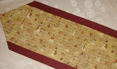 Winterland Table Runner  Let It Snow Man by AStitchinTime72, $15.00