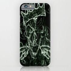Burning Skull King iPhone & iPod Case by Lilbudscorner #skull #king #burning