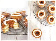 Cronut recipe replica! These are all the rage in nyc! People are spending $30 and up for one of these to not wait in the over hour long line at 7am. http://www.nydailynews.com/life-style/eats/cronuts-sugar-bombs-sweetness-article-1.1359260