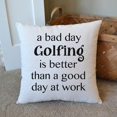$34 Canvas Pillow  Gift for Golfer  Father's by JoaniesFavoriteThing https://www.etsy.com/listing/220741114/canvas-pillow-gift-for-golfer-fathers?ref=shop_home_active_3