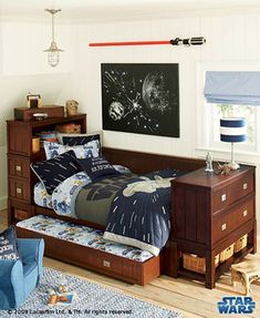 Star Wars Bedroom if my husband was cool he'd let me have a star wars room