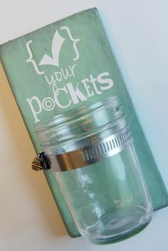 Put next to the laundrybasket or in the laundryroom. Nice, quick little project...I'd lose the vinyl decal myself and just handpaint my own little sign.