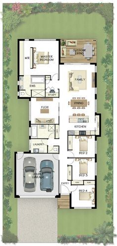 Long narrow house with possible open floor plan | For the Home ...