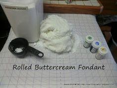 Running away? I'll help you pack.: Rolled Buttercream Fondant (The BEST fondant EVER)