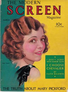 """Janet Gaynor on the front cover of """"Modern Screen Magazine"""", USA, March 1931."""