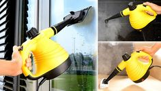 Hand Held Steam Cleaner - 6 Attachments! Windows, floors, upholstery and more. Clean it all with the Hand Held Steam Cleaner      Comes with 7 attachments for cleaning various fabrics      Perfect for sanitising kitchen and bathroom surfaces      Simply add water, plug in and get steaming in seconds      A great way to avoid harsh cleaning products in the home      Also ideal for use carpets,...