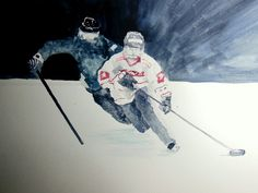 """My newly commissioned watercolour: """"Ringette"""""""