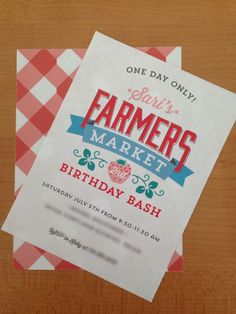Cute Kids Party Theme: Farmers Market Birthday Party - #kidsparty #partyidea