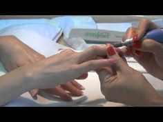 How To Apply Dip Gel Nails Colored Powder - YouTube
