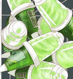 Aesthetic Backgrounds, Aesthetic Wallpapers, Animes Wallpapers, Cute Wallpapers, Aesthetic Art, Aesthetic Anime, Cream Aesthetic, Aesthetic Green, Green Wallpaper