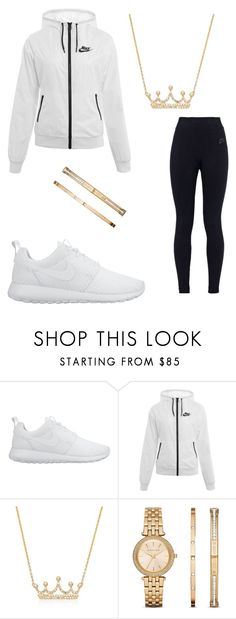"""Untitled #697"" by tanasia2266 ❤ liked on Polyvore featuring NIKE, Ross-Simons and Michael Kors"