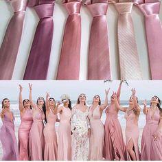 Que tal essa paleta rosa? Rose Bridesmaid Dresses, Wedding Bridesmaids, Summer Wedding Colors, Rustic Wedding Dresses, Brunch Wedding, Bridal Shower Rustic, Kirchen, Marie, Dream Wedding