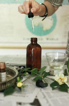 Small Measures: Homemade Eau de Perfume | Design*Sponge. Great tutorial on making your own natural perfumes with just a few ingredients.