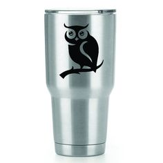 The Owl   3 Inch Vinyl YETI Decal   Sticker   White Black Red Blue Pink And Hot Pink by CastlePeakGraphics on Etsy