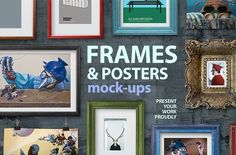 Free for a limited time!  Frames and poster mock-ups by All Design Store on @creativemarket  design, graphics, commerce, ad, affiliate