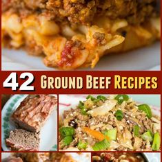Here's 42 ground beef recipes for soup, casseroles, stove top dinners and more! This list is all fast, easy and TESTED ground beef recipes that you can trust to turn out great! Ground Beef Stove Top Recipe, Stove Top Recipes, Ground Beef Recipes Easy, Hamburger Recipes, Meat Recipes, Cooking Recipes, Kitchen Recipes, Linguine, Paella