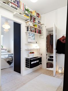 great over the door high ceiling bookshelves / shelving system