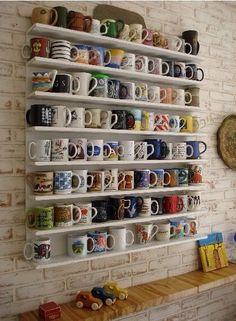 Welcome to my museum of coffee mugs