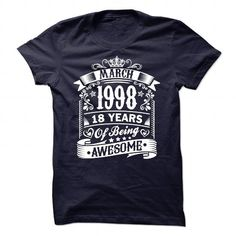 1998 AWESOME T Shirts, Hoodies. Check Price ==► https://www.sunfrog.com/Birth-Years/1998-AWESOME-93626237-Guys.html?41382