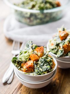 Shredded Brussels Sprout, Kale, and Sweet Potato Salad