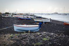 Stromboli / Isole Eolie / Sicilia / Italia, province of Messina  #Stromboli #italia #sicily #isoleeolie #sea #yacht #travel #nature #boats #black_sand #fotoolgavolyanskaya