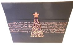 handmade Christmas card from creative-depot ... copper embossing on black ...