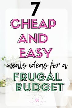 These are the best 7 Cheap and Easy Meals Ideas For a Frugal Budget. Check out these, cheap meals for large families. Cheap easy meals on a. Cheap Easy Meals, Frugal Meals, Budget Meals, Cheap Dinners, Cheap Food, Inexpensive Meals, Budget Recipes, Ways To Save Money, Money Tips