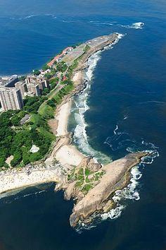 arpoador & praia do diabo & forte de copacabana, rio de janeiro