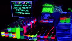 UV Glow Face And Body Paint - Club Pack