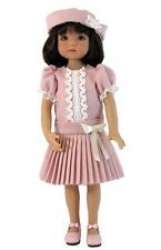 "Party Dress and Hat Set in Pink for Effner 13"" Little Darling Dolls"