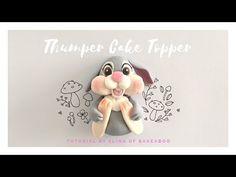 Bunny rabbit cake topper model - YouTube