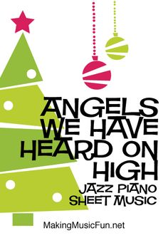 Jazz Piano Lessons Angels We Have Heard On High - Print Easy Jazz Piano Sheet Music (Digital Print) Christmas Carol Format:PDF Easy Piano Sheet Music, Guitar Sheet Music, Music Lessons For Kids, Piano Lessons, Christmas Piano Music, Music Flashcards, Music Theory Games, Teaching Music, Learning Piano